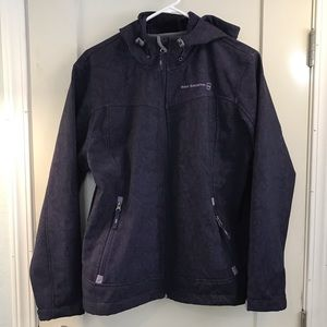 Free country purple soft shell zip up jacket XL